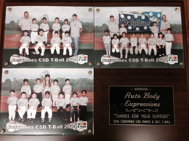 Auto Body Expressions Supports CSD Parks and Rec. T-Ball
